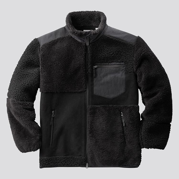 フリースコンビネーションジャケット/BLACK