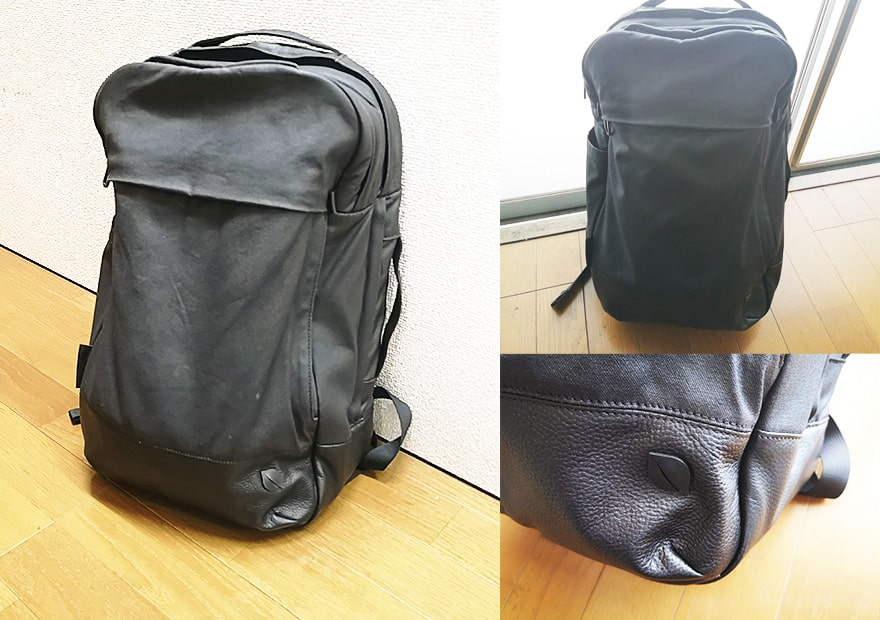 Incase Leather and Canvas Backpack