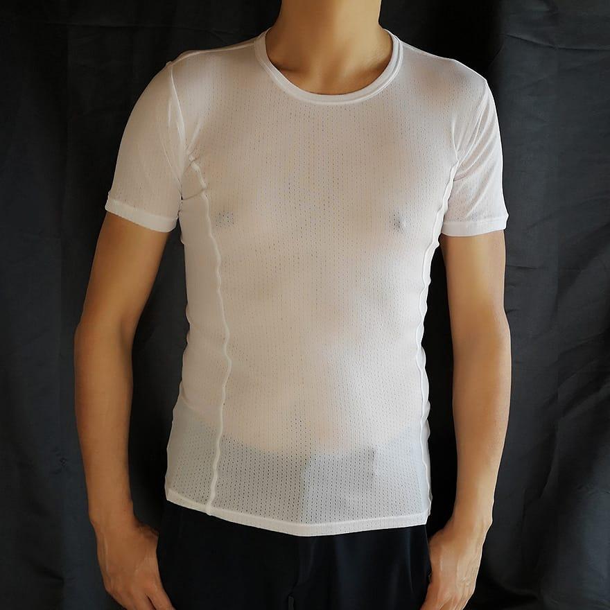 ワークマン ガルシアンメッシュ半袖丸首シャツ