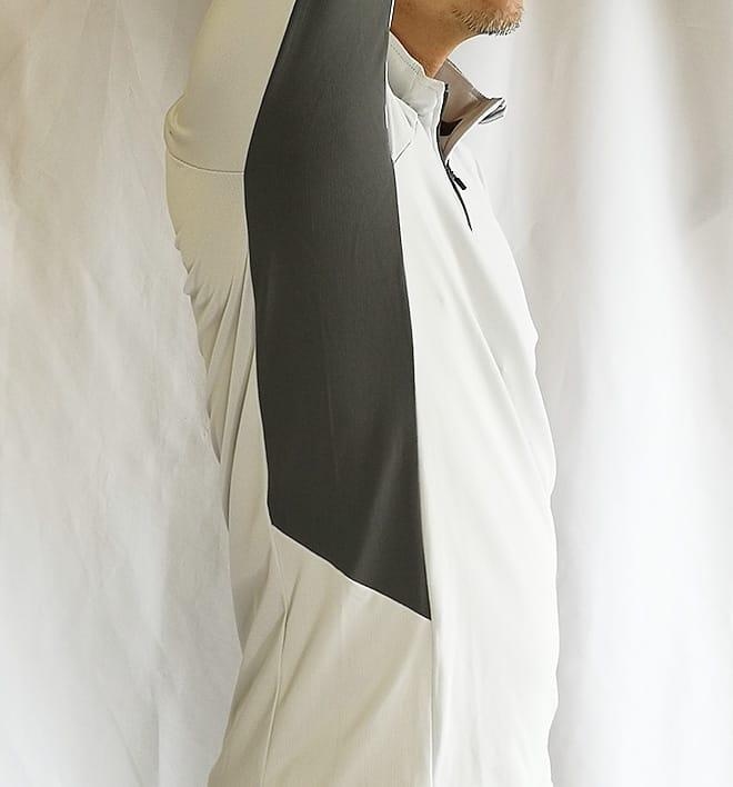 「肌がさらさら ZERO DRY(ゼロドライ) -5℃」長袖ハーフジップ 横