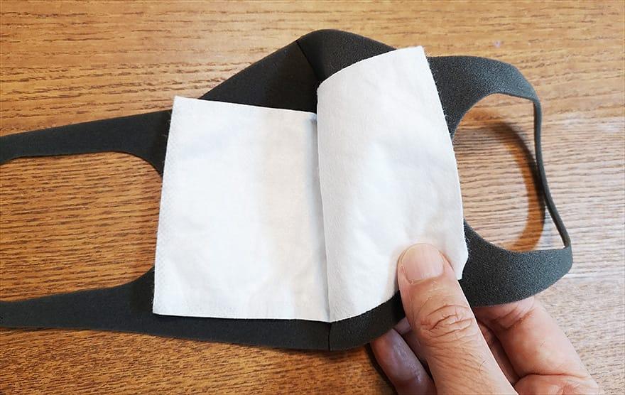 PITTAマスクに「究極のヤマシン・フィルターシート」を直接挟んだ写真