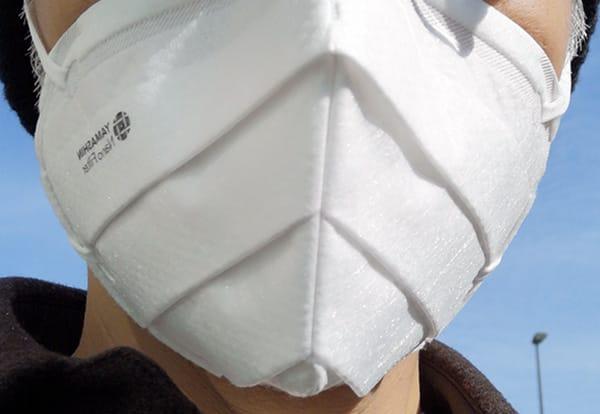 究極のヤマシン・フィルタマスク Zexeedの特徴的な独自立体プリーツ構造